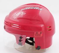 Teuvo Teravainen Signed Hurricanes Mini Helmet (Teravainen COA) at PristineAuction.com
