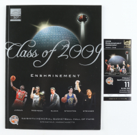 2009 Hall Of Fame Enshrinement  Program with Ticket at PristineAuction.com