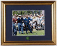 Arnold Palmer & Sam Snead 13.25x16.25 Custom Framed Photo Display With Masters Lapel Pin at PristineAuction.com