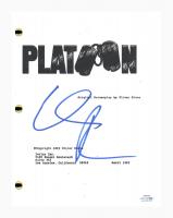 "Willem Dafoe Signed ""Platoon"" Movie Script (AutographCOA COA) at PristineAuction.com"