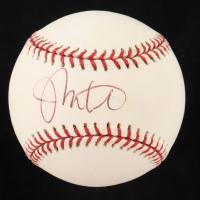 Johnny Estrada Signed OML Baseball (JSA COA) at PristineAuction.com