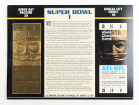 1967 Commemorative First Super Bowl I Card with Ticket: Packers vs Chiefs at PristineAuction.com