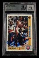 Dennis Rodman Signed 1991-92 Upper Deck #185 (BGS Encapsulated) at PristineAuction.com
