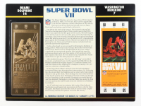 1973 Commemorative Super Bowl VII Card with Ticket: Dolphins vs Redskins at PristineAuction.com