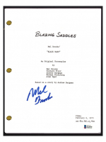 "Mel Brooks Signed ""Blazing Saddles"" Movie Script (Beckett COA) at PristineAuction.com"