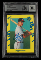 Chipper Jones Signed 1990 Classic Yellow #T92 (BGS Encapsulated) at PristineAuction.com