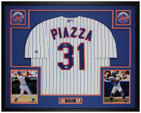 Mike Piazza Signed 35x43 Custom Framed Jersey (PSA COA) at PristineAuction.com