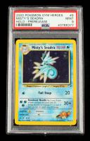 Misty's Seadra 2000 Pokemon Gym Heroes Prerelease #9 Holo R (PSA 9) at PristineAuction.com