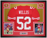 Patrick Willis Signed 35x43 Custom Framed Jersey (Beckett COA & Prova Hologram) at PristineAuction.com