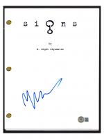 "M. Night Shyamalan Signed ""Signs"" Movie Script (Beckett COA) at PristineAuction.com"