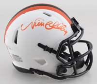 Nick Chubb Signed Browns Lunar Eclipse Alternate Speed Mini Helmet (JSA COA) at PristineAuction.com