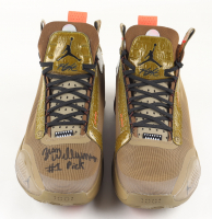 """Zion Williamson Signed Pair of Air Jordan Basketball Shoes Inscribed """"#1 Pick"""" (Fanatics Hologram) at PristineAuction.com"""