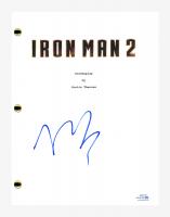 "Mickey Rourke Signed ""Iron Man 2"" Movie Script (AutographCOA COA) at PristineAuction.com"