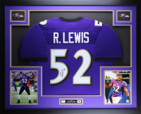 Ray Lewis Signed 35x43 Custom Framed Jersey (JSA COA) at PristineAuction.com