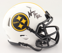 Najee Harris Signed Steelers Lunar Eclipse Alternate Speed Mini Helmet (Fanatics Hologram) at PristineAuction.com