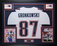 Rob Gronkowski Signed 35x43 Custom Framed Jersey (Beckett COA) at PristineAuction.com