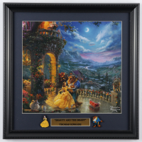"""Thomas Kinkade """"Beauty And The Beast"""" 16x16 Custom Framed Print Display with (2) Pins at PristineAuction.com"""
