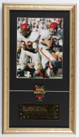 Len Dawson Chiefs 12x21 Custom Framed Photo Display with Super Bowl IV Pin & Gold Ticket at PristineAuction.com