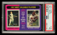Mickey Mantle / Hank Aaron 1975 Topps 1957 MVPs #195 (PSA 7) at PristineAuction.com