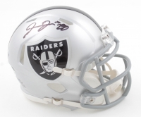 Josh Jacobs Signed Raiders Speed Mini Helmet (Beckett COA & Jacobs Hologram) at PristineAuction.com