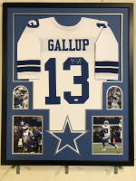 Michael Gallup Signed 34x42 Custom Framed Jersey Display (JSA COA) at PristineAuction.com