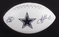 Emmitt Smith, Troy Aikman & Michael Irvin Signed Cowboys Logo Football (Irvin Hologram, Aikman Hologram & Smith Hologram) at PristineAuction.com