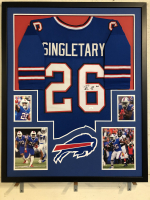 Devin Singletary Signed 34x42 Custom Framed Jersey Display (JSA COA) at PristineAuction.com