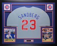 "Ryne Sandberg Signed 35x43 Custom Framed Jersey Inscribed ""HOF 05"" (JSA COA) at PristineAuction.com"