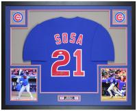 Sammy Sosa Signed 35x43 Custom Framed Jersey (JSA COA) at PristineAuction.com
