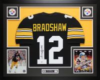 Terry Bradshaw Signed 35x43 Custom Framed Jersey (JSA COA) at PristineAuction.com