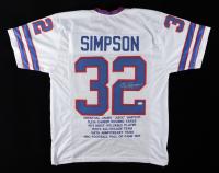 O.J. Simpson Signed Career Highlight Stat Jersey Inscribed (JSA COA) at PristineAuction.com