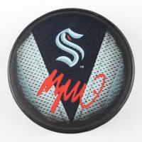 Morgan Geekie Signed Kraken Logo Hockey Puck (Fanatics Hologram) at PristineAuction.com