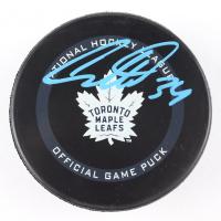 Auston Matthews Signed Maple Leafs Logo Hockey Puck (Fanatics Hologram) at PristineAuction.com