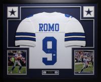 Tony Romo Signed 35x43 Custom Framed Jersey (JSA COA) at PristineAuction.com