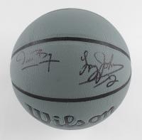 Muggsy Bogues & Larry Johnson Signed NBA Basketball (JSA Hologram) at PristineAuction.com