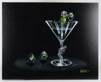 "Michael Godard Signed ""Gangsta' Martini (2 Shots & A Splash)"" 28x36 Giclee On Canvas (PA LOA) at PristineAuction.com"