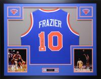 Walt Frazier Signed 35x43 Custom Framed Jersey (JSA COA) at PristineAuction.com