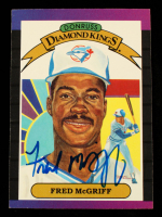 Fred McGriff Signed 1989 Donruss #16 Diamond Kings (Schulte Sports Hologram) at PristineAuction.com