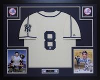 Yogi Berra Signed 35x43 Custom Framed Jersey (JSA COA) at PristineAuction.com