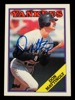Don Mattingly Signed 1988 Topps #300 (Schulte Sports Hologram) at PristineAuction.com