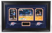 Serge Ibaka Signed Thunder 21x34 Custom Framed Photo (JSA Hologram) (See Description) at PristineAuction.com