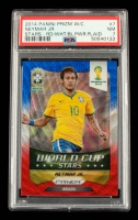 Neymar J2014 Panini Prizm World Cup World Cup Stars Prizms Red White and Blue #7 (PSA 7) at PristineAuction.com