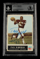 """Paul Warfield Signed 1965 Philadelphia #41 Inscribed """"HOF '83"""" (BGS Encapsulated) at PristineAuction.com"""