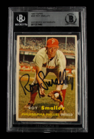 Roy Smalley Signed 1957 Topps #397 (BGS Encapsulated) at PristineAuction.com
