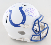 "Reggie Wayne Signed Colts Full-Size Speed Helmet Inscribed ""Forever A Colt"" (PSA COA) at PristineAuction.com"