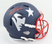 Jonnu Smith Signed Patriots Full-Size AMP Alternate Speed Helmet (Beckett COA) at PristineAuction.com