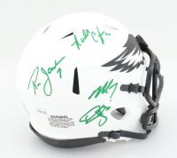 Eagles Lunar Eclipse Alternate Speed Mini Helmet Signed by (4) with Ron Jaworski, Michael Vick, Donovan Mcnabb, Randall Cunningham (JSA COA) at PristineAuction.com