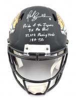 Mark Brunell Signed Jaguars Full-Size Matte Black Speed Helmet With Multiple Inscriptions (Beckett COA) at PristineAuction.com