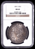 1891-S Morgan Silver Dollar (NGC MS65) (Toned) at PristineAuction.com