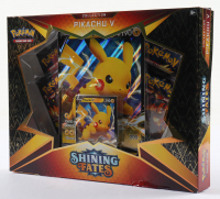 Pokemon TCG: Shining Fates Pikachu V Box with (5) Booster Packs at PristineAuction.com